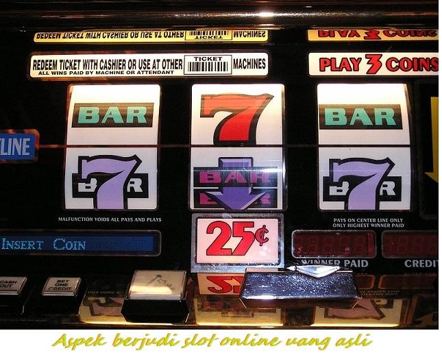 Aspek berjudi slot online uang asli